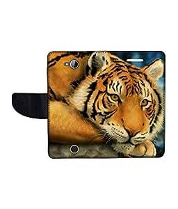 KolorEdge Printed Flip Cover For Acer Liquid Z530 Multicolor - (1478-50KeMLogo09844AcerZ530)