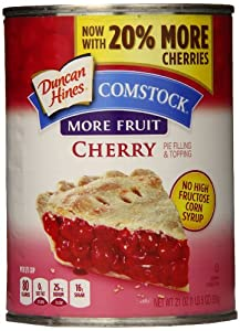 Comstock More Fruit Filling, Cherry, 21 Ounce (Pack of 8)
