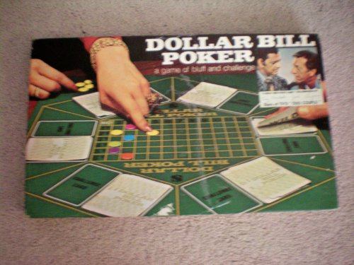 VINTAGE BOARD GAME -- Dollar Bill Poker -- a game of bluff and challenge -- Endorced by Tony Randall and Jack Klugman -- Milton Bradley -- 1974 - 1