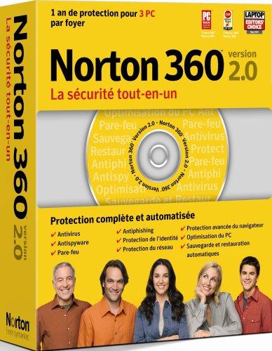 Norton 360 - (Version 2.0 ) - Ensemble De Mise À Niveau - 3 Pc Par Foyer - Cd - Win - Français