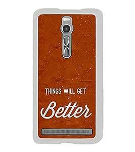Life Quote 2D Hard Polycarbonate Designer Back Case Cover for Asus Zenfone 2 ZE551ML