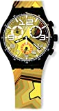 Swatch Mens Stroke Light Black Silicone Strap Watch