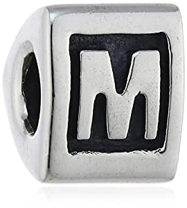"Pandora Damen-Bead  Sterling-Silber 925 Buchstabenelement ""M"" KASI 79323-M"