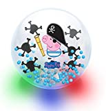 Peppa Pig Pirate George Large LED Light Up Glitter Bouncy Ball