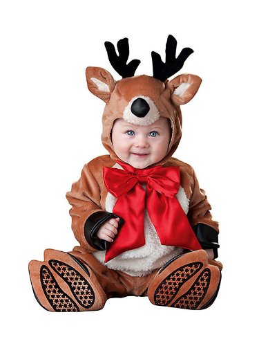 Reindeer Rascal Costume - Infant Small front-991702