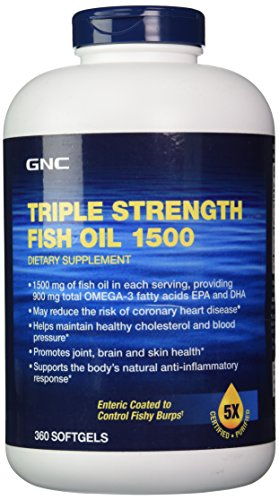 GNC Triple Strength Fish Oil 1500 360 Softgels (Triple Strength Fish Oil 1500 compare prices)