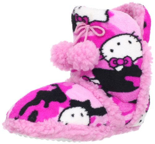 Hello Kitty Junior's Pom Pom Bootie, Pink, Large