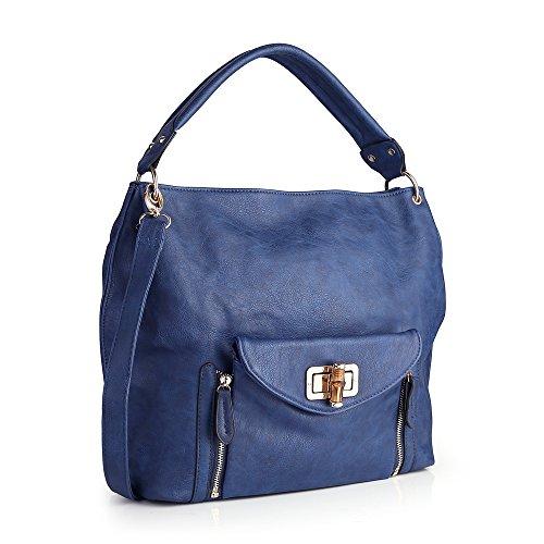 Women Handbag,Women Bag, Shoulder Bag KINGH Vintage Style PU Leather 002 Blue (Faux Leather Garment Bag compare prices)