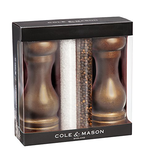 COLE & MASON Forest Capstan Wood Salt and Pepper Mill Gift Set (Salt And Pepper Mill Set Wood compare prices)