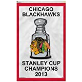 Chicago Blackhawks 2013 Stanley Cup Champions 3x5 Vertical Banner Flag