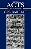 Acts of the Apostles: A Shorter Commentary (International Critical Commentary) (0567088170) by Barrett, C. K.