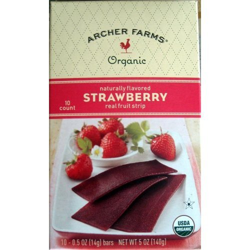 Archer Farms Organic Strawberry Real Fruit Strip 10 Count
