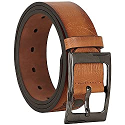 Comfort Zone India Tan Textured Men's Belt