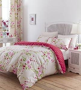 Pcj supplies parure housse de couette taies rideaux shabby chic coton r - Decoration shabby en ligne ...