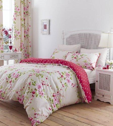 bettwsche herrliches baumwolle doppel rot rosa - Romantisches Schlafzimmer