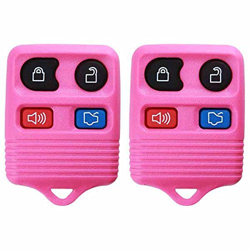 2 KeylessOption Pink Replacement 4 Button Keyless Entry Remote Control Key Fob (Ford Mustang Pink compare prices)