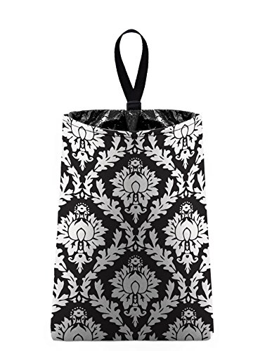 Auto Trash (Black Damask) by The Mod Mobile - litter bag/garbage can for your car (Damask Garbage Can compare prices)