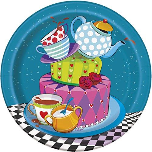 Unique Party 49504 - Piatti Tea Party Cappellaio Matto, Confezione da 8