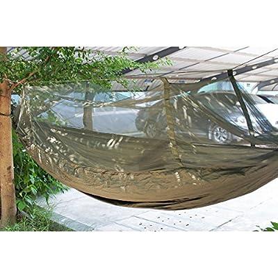 Antye® Tragbaren Nylon Gewebe Reisen Camping Hängematte Für Eine Person Mit Moskitonetzen Hochfester Nylon Hängematte von AnTaiXin bei Gartenmöbel von Du und Dein Garten