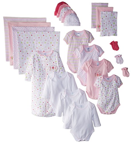 Spasilk Baby-Girls Newborn 23-Piece Essential Baby Gift Set, Pink Girl, 0-6 Months