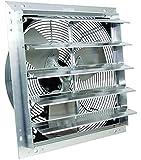 """VES 20"""" Exhaust Shutter Fan, Wall Mount, 3 Speed Switch"""