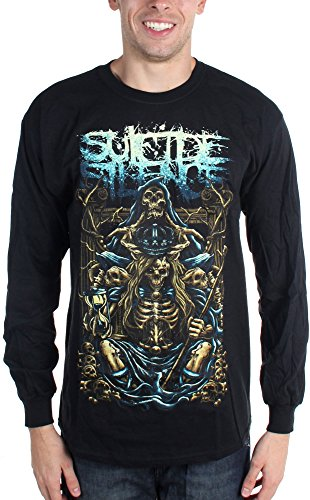 Suicide Silence-Inherit-Maglietta a maniche lunghe da uomo nero XX-Large