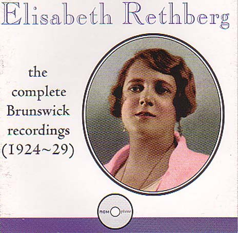 Elisabeth Rethberg: The Complete Brunswick Recordings, 1924-1929 back-355054