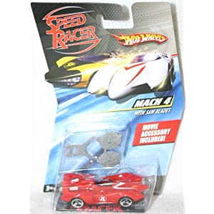 Speed Racer 1:64 Die Cast Hot Wheels Car Mach 4 with Saw Blades