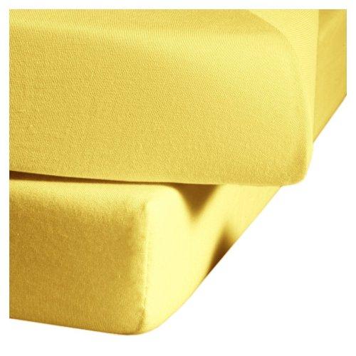fleuresse L-001117-2006-0400 Spannbettlaken - Comfort 150 x 200 cm gelb thumbnail