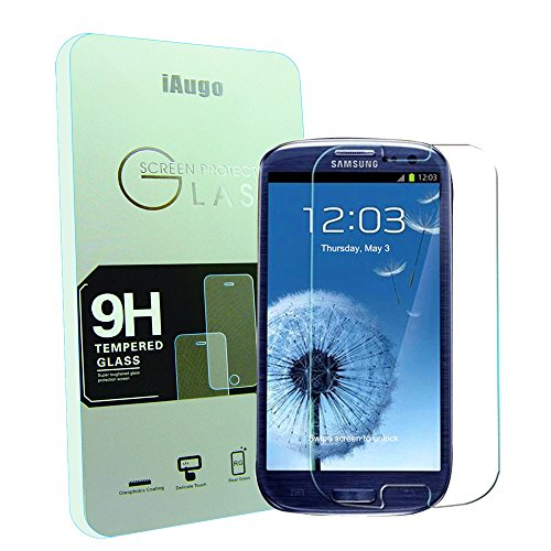 Iaugo 2.5D Round Edge 9H Hardness Premium Tempered Glass Screen Protector For Samsung Galaxy S3/ S Iii I9300-Premium Crystal Clear