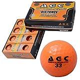 LEZAX(レザックス)  AGC 高弾性高反発2ピースゴルフボール 高輝度ネオンボール1ダース(12個入り) ネオンオレンジ AGBA-4714 OR