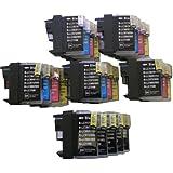25 XL ColourDirect Cartouche D'encres LC1100 LC985 LC980 Pour La Brother MFC250C MFC255CW MFC290C MFC295CN MFC297C MFC490CN MFC5490CN MFC5890CN MFC790CW MFC795CW MFC6490CW MFC6890CDW MFC990CW DCP145C DCP163C DCP165C DCP167C DCP185C DCP195C DCP365CN DCP373CW DCP375CW DCP377CW DCP383C DCP385C DCP387C DCP395CN DCP585CW DCP6690CW DCPJ715W MFCJ220 MFCJ265W MFCJ410 DCPJ125 DCPJ315W DCPJ415W DCPJ515W