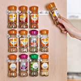 Home-it Spice Rack Storage/organizer Wall Rack 12 Cabinet Door Spice Clips