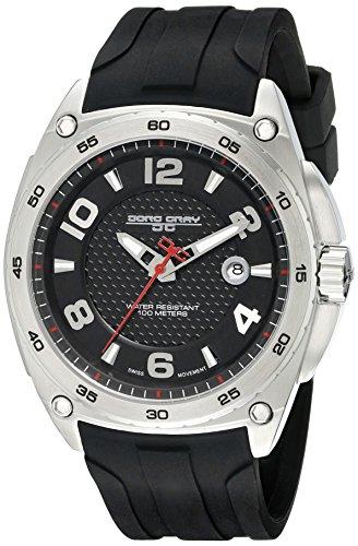 Jorg Gray JG8400-11 - Reloj de pulsera hombre, silicona, color negro