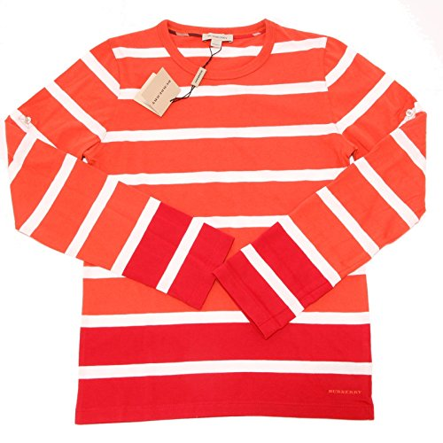 6914F manica BURBERRY MANICA LUNGA COTONE polo bimbo t-shirt kids [12 YEARS]