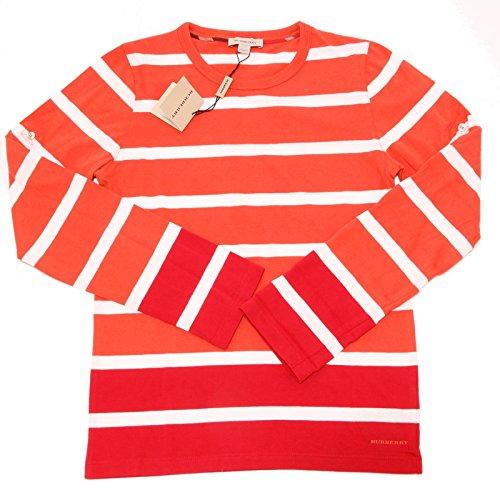 6914F manica BURBERRY MANICA LUNGA COTONE polo bimbo t-shirt kids [12 YEARS]
