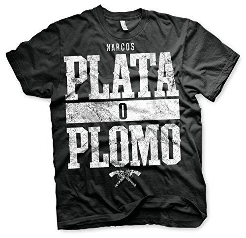 Narcos Maglia T Shirt Plata O Plomo Size L Other