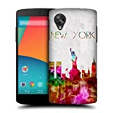 Head Case Designs Statue of Liberty New York USA Watercoloured Skyline Hard Back Case Cover for LG Google Nexus 5 D821