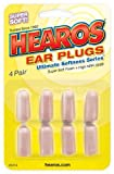 Hearos Ultimate Softness Series Ear Plugs, 4 Count (Pack of 6)