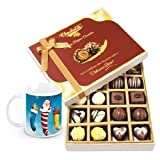 Hearty Surprise Of Beautiful Chocolates With Christmas Mug - Chocholik Belgium Chocolates