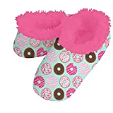 Snoozies Foot Coverings Fun Ones Slippers Socks Donuts - Large