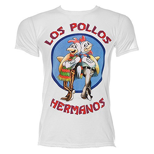 Los Pollos Hermanos T-Shirt Breaking Bad (Medium, White)