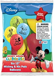 Disney Mickey and His Pals 12″ Assorted Color Balloons(set of 36)