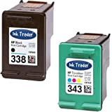 HP 338 Black & 343 Tri-Colour Remanufactured Printer Ink Cartridges For use with HP Photosmart 2570 2575 2610 2710 7850 8150 8450 8450gp 8750 8750gp C3170 C3175 C3180 C3190 Pro B8350 Printers by Ink Trader
