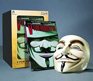 V for Vendetta Deluxe Collector Set, Book and Mask Set by Alan Moore