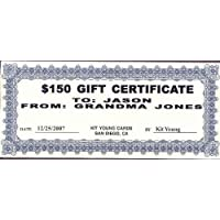 1 - $150 Gift Certificate Kit Young Cards 78894