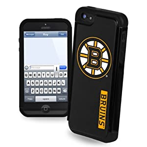 Forever Collectibles Boston Bruins Rugged Dual Hybrid Apple iPhone 5 & 5S Case