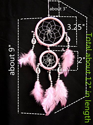 Dream Catcher with Feathers-pink