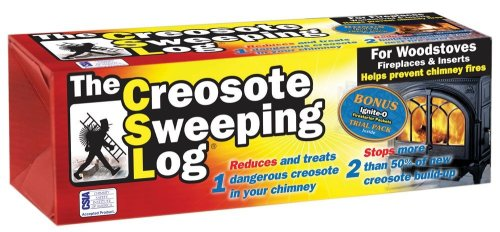 New Creosote Sweeping Log For Fireplaces (Pack of 2)
