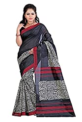 Needle Impression Bhagalpuri Silk Saree